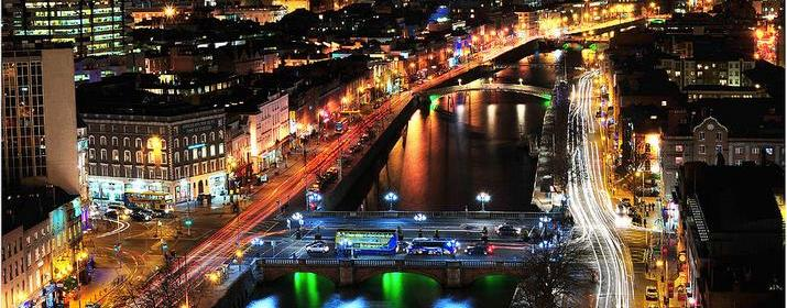 Dublin city at Night